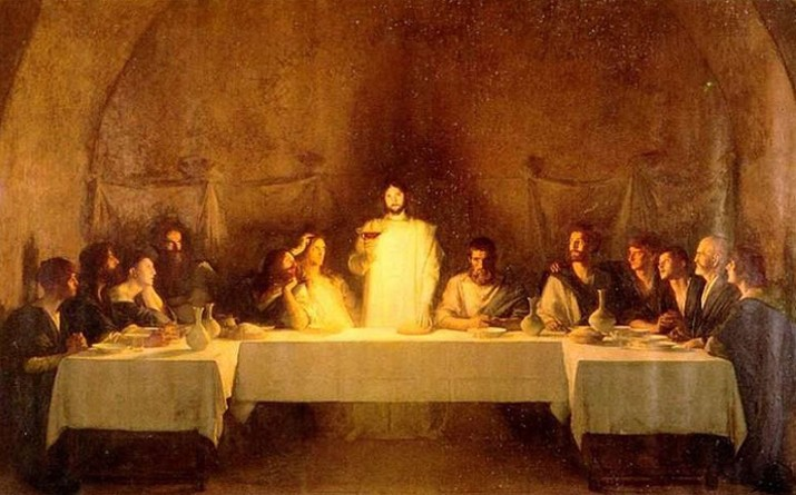 The Apostle John and Jesus at the Last Supper